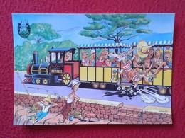 POSTAL POST CARD CARTE POSTALE BALEARIC ISLANDS SPAIN BURRO BURRITO PLAY DONKEY ASNO ÂNE ASINO EN TREN TRAIN CARTOON VER - Burros