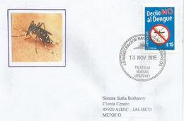 URUGUAY. Lutte Contre La Dengue  . , Sur Lettre  Uruguay Adressée Au Mexique - Disease