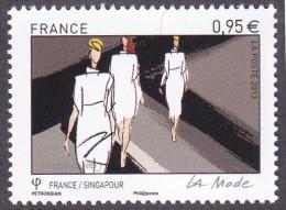 France N° 4827 ** La Mode - France/Singapour - Le 0.95 Défilé - France