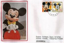 JAPON. Tokyo Disney Land Minnie Mouse,  Sur Lettre Tokyo Adressée Indonesie - Bandes Dessinées