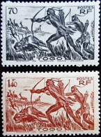 1941 Togo Yt 195, 199 .Hunters . Neufs Traces Charnières - Neufs