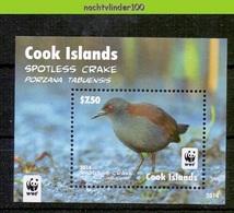 Nfa012 WWF FAUNA VOGELS WATERHOEN SPOTLESS CRAKE BIRDS VÖGEL AVES OISEAUX COOK ISLANDS 2014 PF/MNH - Vogels