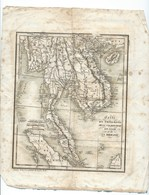 CARTE GEOGRAPHIQUE SIAM / BIRMANIE Fin 19 E Siecle   DIM 22 Cm / 26 Cm - Geographical Maps