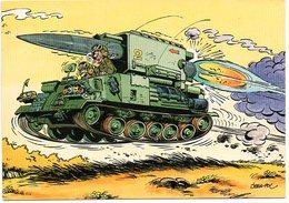Tank Char De Combat  Jean Pol Illustrateur Illustrator Militair Militaire Military Militär Humor Humour Humoristique - Humoristiques