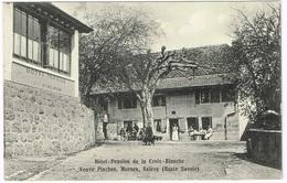 MORNEX 1910 Hôtel Pension De La Croix-Blanche, Veuve Pinchon - Sonstige Gemeinden