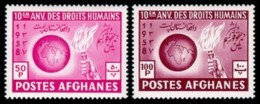 Afghanistan, 1958, Declaration On Human Rights, United Nations, MNH, Michel 477-478A - Afghanistan