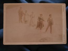 Photo Cabinet Tairraz à Chamonix - Famille Renaut à La Mer De Glace Vers 1890 L425 - Anciennes (Av. 1900)