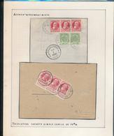 BELGIUM BELGIQUE RECUS X2 BRUXELLES ET ROULERS - 1905 Grosse Barbe