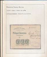 BELGIUM BELGIQUE RECU FILATURES DE LAINES PHILIPPART SERWEYTENS TOURNAI - 1905 Grosse Barbe