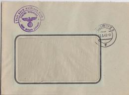 BRIEF REICHSPOST GLEIWITZ 2 POLEN 21.03.1943 FREI DURCH ABLÖSUNG REICH DEUTSCHE REISCHSBAHN GLEIWIK GLIWICE POLSKA WW2 - Covers & Documents