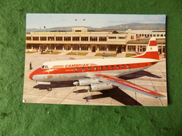 VINTAGE ISLE OF MAN: Airport Cambrian Airways Viscount Colour Cotman - Isola Di Man (dell'uomo)