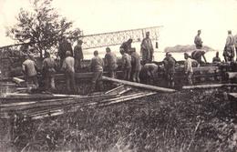 BELGRAD / SERBIA - 1918 [ WORLD WAR I ]  RECONSTUCTION OF THE BLASTED BRIDGE On SAVA By AUSTRIAN PIONEERS (aa537) - Guerre 1914-18