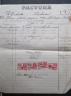 VP FACTURE (M1617) LODELINSART (2 VUES) Victor Wérion Plombier-Zingueur 1933 - Belgique
