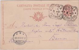 Italy 1901 Cartolina Postale 10c From Roma To Barmen - 1900-44 Vittorio Emanuele III