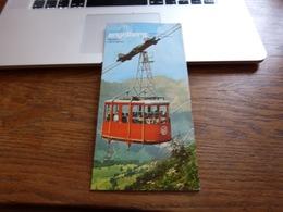 Dépliant Touristique Engelberg Téléphérique Train Télésiège (bien Lire Conditions Pour Acheteurs Suisses) - Dépliants Touristiques