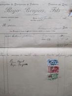 VP FACTURE (M1617) ROUX Rue Miss Cavel (2 VUES) ROGER BERGIERS, FILS - Entreprises De Charpentes Et Toitures 1933 - Belgique