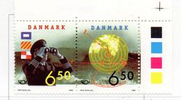 """PIA - DANIMARCA -1998 : """"Norden '98) - Navigazione Marittima  - (Yv  1183-84 ) - Danimarca"""