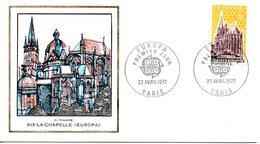 FRANCE. N°1714 De 1972 Sur Enveloppe 1er Jour. Europa'72/Cathédrale. - Eglises Et Cathédrales