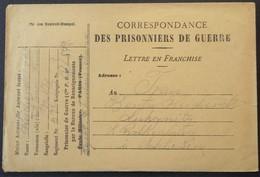 ENVELOPPE DE FRANCHISE MILITAIRE PRISONNIERS DE GUERRE Dépôt De CHALONS-SUR-MARNE Janv 1919 > Rothenburg - Marcophilie (Lettres)