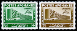 Afghanistan, 1958, UNESCO, New Headquarters, United Nations, MNH, Michel 475-476A - Afghanistan