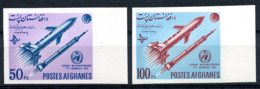 Afghanistan, 1962, World Meteorological Day, WMO, OMM, United Nations, Space, Rocket, MNH Imperforated, Michel 732-733B - Afghanistan