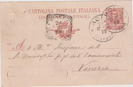 Italy 1903 Cartolina Postale From Rome To Venezia - 1900-44 Vittorio Emanuele III
