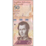 TWN - VENEZUELA NEW - 50 Bolivares 18.5.2018 Prefix F UNC - Venezuela