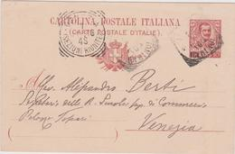 Italy 1903 Cartolina Postale C 10 From Roma To Venezia - 1900-44 Vittorio Emanuele III