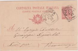 Italy 1906 Cartolina Postale C 10 From Piacenza To Romanengo - 1900-44 Vittorio Emanuele III