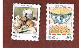 ITALIA - UN. 2124.2125  -   1994  I CIBI ITALIANI  (SERIE COMPLETA DI 2)   -  NUOVI **(MINT) - 6. 1946-.. Repubblica