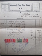 VP FACTURE (M1617) CHARLEROI Rue Pige-au-Croly (2 VUES) EDOUARD VAN DEN BAUW Plombier-Zingueur 1934 - Belgique