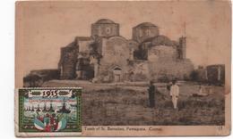 CHYPRE -Tombe De St Barnabas -vignette  Corps Expéditionnaire D'Orient 1915 -  CPA  écrite En1915 - Guerre 1914-18