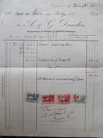 VP FACTURE (M1617) LODELINSART (AULNIATS) (2 VUES) G. DANDOIS Entrepreneurs De Briques 1936 - Belgique