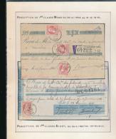 BELGIUM BELGIQUE RECUS MONS ALOST - 1905 Grosse Barbe
