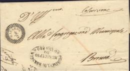1853-Gavardo (Brescia) Lettera Con Testo, Bollo A Linee Orizzontali Gavardo 4/2 - ...-1850 Préphilatélie