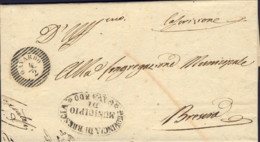 1853-Gavardo (Brescia) Lettera Con Testo, Bollo A Linee Orizzontali Gavardo 4/2 - Italia