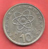 10 Drachmes , GRECE  , Cupro-Nickel , 1978 , N° KM # 119 - Grèce