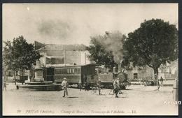 Ancienne Reproduction D'une CPA - Privas (Ardèche) - Champ De Mars Tramways De L'Ardèche - Voir 2 Scans - Privas