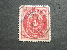 ISLAND , 4 Sk.  Karmin, Schönes Stück ,mit Mängeln - Oblitérés