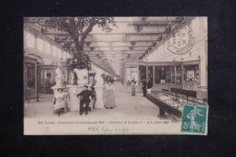 FRANCE - Oblitération Mécanique De Lyon Exposition Sur Carte Postale Officielle En 1914 - L 23151 - Marcophilie (Lettres)