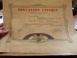 Diplome De Grand Officier Education Civique Paris 1978 - France - Diploma & School Reports