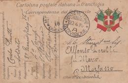 Italy 1915 Posta Militare 2a Divisione Cavalleria Cartolina Postale In Franchigia - 1900-44 Vittorio Emanuele III