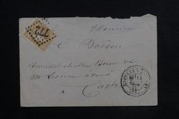 FRANCE - Enveloppe De Castres-sur-l'Agout Pour Castres En 1871 , Affranchissement Type Bordeaux 10ct - L 23152 - Marcophilie (Lettres)