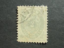 ISLAND , 3  Sk.  Grau, Schönes Stück ,mit Mängeln( Dünne Stelle) - Oblitérés
