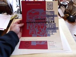 Diplome Décoration Unions Professionnelles De 1ère Classe Bruxelles 1979 - Diploma & School Reports
