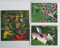 Guinee 2001** Klb.3536-41 + Bl.707, 709. Birds [10;24,25,124] - Oiseaux