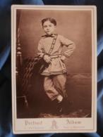 Cabinet Photo A. Reynouls à Béziers - Second Empire Petit Garçon, Tunique à La Russe (famille Belleville) Vers 1865 L421 - Anciennes (Av. 1900)