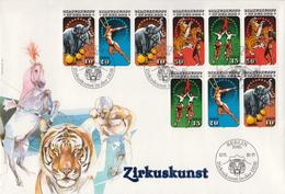 Germany / DDR Circus Set On Jumbo FDC - Circus