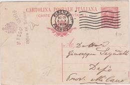 Italy 1918 Cartolina Postale 10c From Firenze To Desio - 1900-44 Vittorio Emanuele III