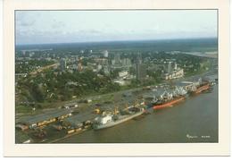 3 Vue Aérienne Du Port Et La Ville De Douala - Cameroun